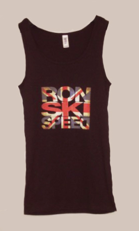 ronski speed t-shirt, girl tank-top, black