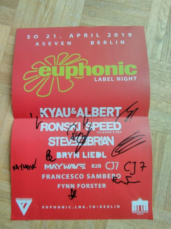 signed Euphonic night poster April 2019